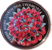 5 Pounds - Elizabeth II (2016 Remembrance Day) -  reverse