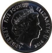 5 Pounds - Elizabeth II (2016 Remembrance Day) -  obverse