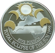 5 Pounds - Elizabeth II (Total Eclipse of the Sun) -  reverse