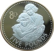 5 Pounds - Elizabeth II (Princesses Elizabeth and Margaret) -  reverse