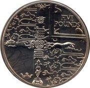 5 Pounds - Elizabeth II (Golden Jubilee) -  reverse