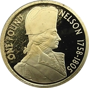 1 Pound - Elizabeth II (Nelson) -  reverse