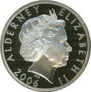 5 Pounds - Elizabeth II (Queen Elizabeth II; Silver Proof Issue) -  obverse