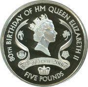 5 Pounds - Elizabeth II (Queen Elizabeth II; Silver Proof Issue) -  reverse