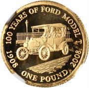 1 Pound - Elizabeth II (Model T Ford) -  reverse