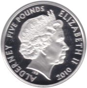 5 Pounds - Elizabeth II (John Lennon; Silver Proof Issue) -  obverse