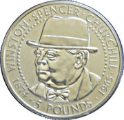 5 Pounds - Elizabeth II (Sir Winston Churchill) – reverse