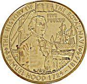 5 Pounds - Elizabeth II (Viscount Samuel Hood) -  reverse