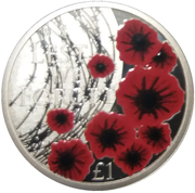 1 Pound - Elizabeth II (Remembrance Day) – reverse