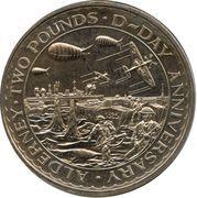 2 Pounds - Elizabeth II (D-Day) – reverse