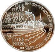 2 Pounds - Elizabeth II (Islander's Return; Silver Proof Issue) – reverse