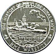 5 Pounds - Elizabeth II (H.M.S. Warspite) -  reverse