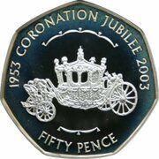 50 Pence - Elizabeth II (Coronation Jubilee) – reverse