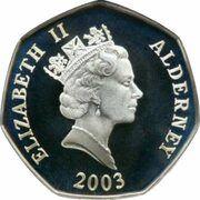 50 Pence - Elizabeth II (Coronation Jubilee) – obverse