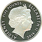 5 Pounds - Elizabeth II (King George I) -  obverse