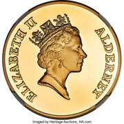 2 Pounds - Elizabeth II (Islander's Return; Gold Proof Issue) – obverse