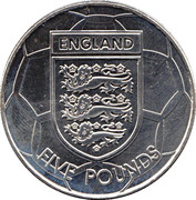 5 Pounds - Elizabeth II (World Cup) – reverse