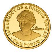 1 Pound - Elizabeth II (Princess Diana) – obverse