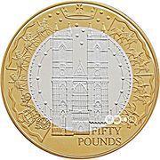 50 Pounds - Elizabeth II (Golden Jubilee) -  reverse