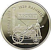 5 Pounds - Elizabeth II (Rocket, 1829 Rainhill) -  reverse