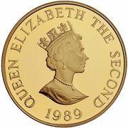 2 Pounds - Elizabeth II (Royal Visit; Gold Proof Issue) – obverse