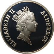 2 Pounds - Elizabeth II (Golden Wedding Silver Proof) -  obverse