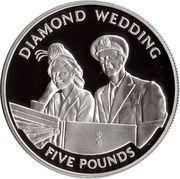 5 Pounds - Elizabeth II (60th Wedding Anniversary; Honeymoon departure; Silver Proof Issue) -  reverse