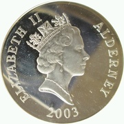 5 Pounds - Elizabeth II (Concorde; Silver Proof Issue) -  obverse