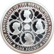 1 Pound - Elizabeth II (The 200th Anniversary of Queen Victoria) – reverse