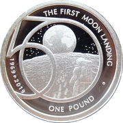 1 Pound - Elizabeth II (The 50th Anniversary of the Moon Landing) – reverse