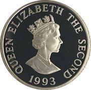2 Pounds - Elizabeth II (Coronation Jubilee; Silver Proof Issue) – obverse