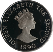 2 Pounds - Elizabeth II (Queen Mother's 90th Birthday; Silver Proof Issue) – obverse