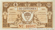 50 centimes - Chambre de Commerce d'Aurillac [15] – obverse