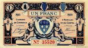 1 franc - Chambre de Commerce d'Aurillac [15] – obverse