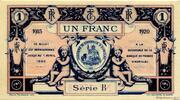 1 franc - Chambre de Commerce d'Aurillac [15] – reverse