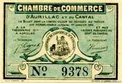 25 centimes - Chambre de Commerce d'Aurillac [15] – obverse