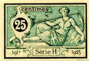 25 centimes - Chambre de Commerce d'Aurillac [15] – reverse