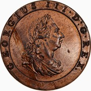 2 Pence - George III (1800 Proclamation coin - British Penny) -  obverse