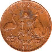 1 Penny (D.T.Mulligan - Toowoomba, Rockhampton) -  obverse