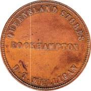 1 Penny (D.T.Mulligan - Toowoomba, Rockhampton) -  reverse