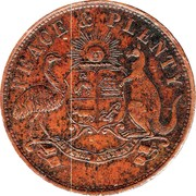 1 Penny (T.F. Merry & Co - Toowoomba, Queensland) -  obverse