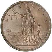 1 Penny (John Martin - Adelaide, South Australia) -  obverse