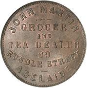 1 Penny (John Martin - Adelaide, South Australia) -  reverse