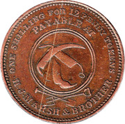 1 Penny (H.J.Marsh & Brother - Hobart, Tasmania) -  obverse