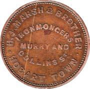 1 Penny (H.J.Marsh & Brother - Hobart, Tasmania) -  reverse