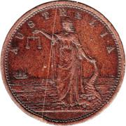1 Penny (Alfred Taylor - Adelaide, South Australia) -  obverse