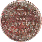 1 Penny (Alfred Taylor - Adelaide, South Australia) -  reverse