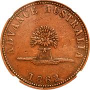 1 Penny (In Vino Veritas - Victoria) -  obverse