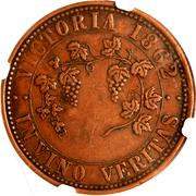 1 Penny (In Vino Veritas - Victoria) -  reverse