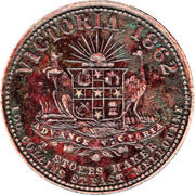 1 Penny (T. Stokes - Melbourne, Victoria) -  obverse